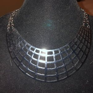 Gunmetal bib necklace